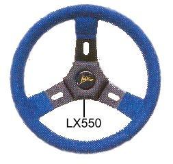 Kart Basic Kart-Lenkrad, Wildleder blau, sw. Speiche