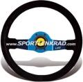 Jet Sport-Lenkrad, Wildleder sw./35, blaumetallic Speiche